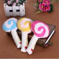 Pet Dog Puppy Lollipop Animal Squeaky Quack Sound Cotton Chew Toy