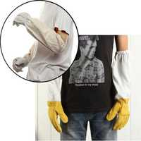 Beekeepers Protective Goatskin Vented Long Sleeves Beekeeping Gloves