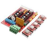 3D Printer Kit RAMPS 1.4 Control Board 5Pcs 4988 Driver With Heat Sink