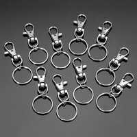 10pcs Fashion Stainless Steel Dual Key Holder Ring Keychain Silver