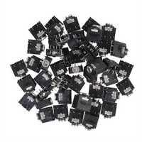 50pcs 3.5mm 5Pin Female Stereo Audio Jack Panel Mount