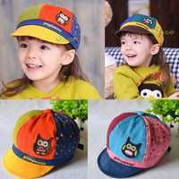 Summer Kid Baby Boy Girl Cute Owl Print Sun Hat Baseball Cap