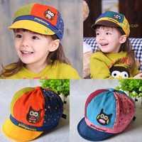 Summer Kid Baby Boy Girl Cute Owl Print Sun Hat Baseball Cap