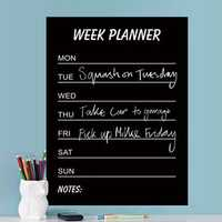 Environmental PVC Teaching Blackboard Removable Chalkboard Sticker Write Week Planner Home Decor