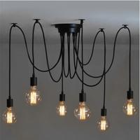 6 Head Industrial Vintage Edison Chandelier Pendant Ceiling Lamp Fixture