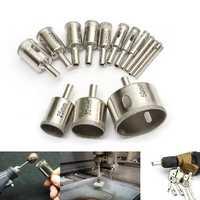 15pcs 3-50mm Diamond Drill Bit Set Hole Saw Cutter For Tile Ceramic Glass Porcelain Marble