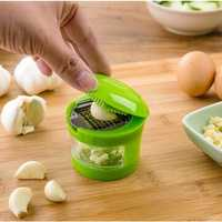 Multi-function Garlic Press Slicer Chopper Grater Hand Presser Garlic Grinder With Container