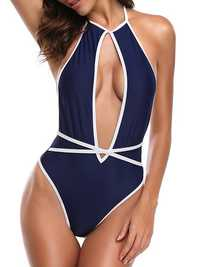 Backless Sexy Hollow Out Slimming One Pieces Swimsuit