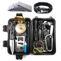 IPRee® A15 15 In 1 Outdoor EDC Survival Tools Case SOS First Aid Kit Multifunctional Emergency