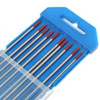10Pcs 3/32inch x 7inch (2.4x175mm) RED WT20 2% Thoriated Tungsten Welding TIG Electrode Welding Rods