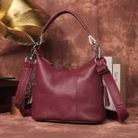 Brenice Vintage Genuine Leather Casual Crossbody Bag