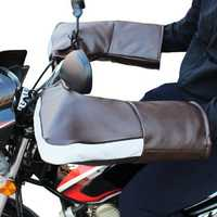 Waterproof Motorcycle Leather Handlebar Gloves Snowmobile Winter Hand Warm Covers