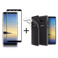 Bakeey™ 3D Curved Edge Tempered Glass Film With Transparent TPU Case for Samsung Galaxy Note 8
