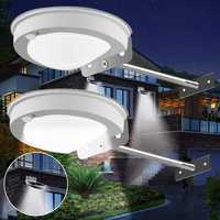 2pcs 3W 28LED Solar Powered PIR Motion Sensor Waterproof Wall Light Street Lamp