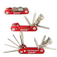 11 In 1 Multi Bicycle Repair Tool Screwdrivers Kit T25 Spanner With Chain Rivet Remover