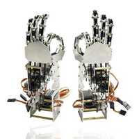 DIY 5DOF Robot Five Fingers Metal Manipulator Arm Left and Right Hand QDS-1601