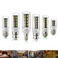 E27 E14 B22 4W 5W 6W SMD 7030 Pure White Warm White LED Corn Light Lamp Bulb AC110V