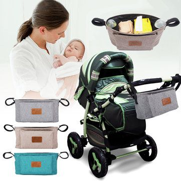 Baby Strollers Storage Bag Organizer Pushchair Basket Pouch Travel Going Out