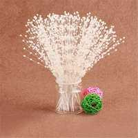 100pcs Bridal Pearl Spray White Bead Wire Stems Wedding Flower Bouquets Craft
