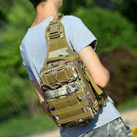 Nylon Camouflage Portable Multifunction Crossbody Bag Tactical Military Waterproof Chest Bag For Men