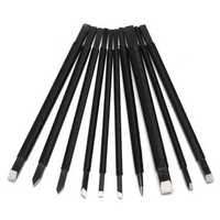 10Pcs Steel Chisel Set Stone Carving Knife Artist Woodworkers Tools