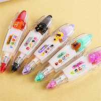 Cartoon Press Type Correction Lace Tape Stationery Decorative Articles Notebook For Students