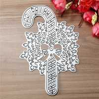 Christmas Stick Metal Die Cutting DIY Scrapbook Photo Paper Gift Party Decor