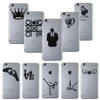 Creative Decal Vinyl Skin Cover Sticker For iPhone 4 4S 5 5S 5C 6 6S Plus