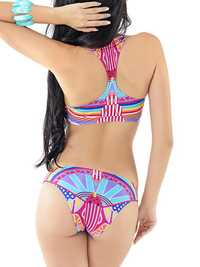 Women Sexy Vintage Vest Tops Beachwear Wireless Colorful Printing Bikinis