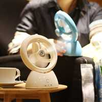 Home Mini Portable 2 in 1 Electronic Desktop USB Rechargeable Air Humidifier Cooling Spray Fan