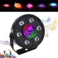 RGB LED Stage Light Strobe Light Crystal Ball Party Club DJ Disco Atmostphere Light AC90-265V