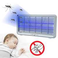 8W Electric LED Mosquito Fly Insect Killer Zapper Control Lamp Industrial Indoor AC220V