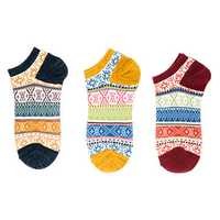 Women Men Ethnic Style Elastic Breathable Ankle Socks