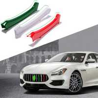 M Color ABS Car Front Grill Grille Cover Clip Trim Moulding Trim Strip for Maserati Ghibli 2014-2017