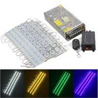100PCS 5 Colors SMD5050 LED Module Store Strip Light Front Window Lamp + Power Supply + Remote DC12V
