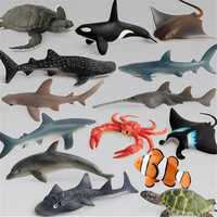 14PCS Shark Sea Creature Toy Animal Figures Diecast Model