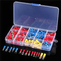 Excellway® EC08 280pcs Assorted Electrical Fork Ring Spade Crimp Terminal Wire Connector Box Kit