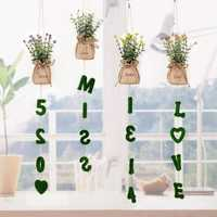 Artifical Grass Plant Wedding Wall Hangings Living Room Decorative DIY Artificial Flowers During Cactus Party Decor