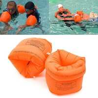 IPRee™ 2PCS PVC Swimming Arm Band Ring Floating Inflatable Air Sleeves For Adult Children