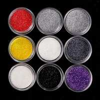 9 Colors Glitter Eye Shadow Powder Kit Set Spangle Cosmetics Makeup Pigment