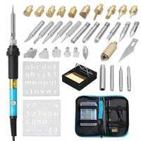 39Pcs 110V 220V 60W Wood Burning Pen Soldering Tool Crafts Tools Set Pyrography Kit Tips