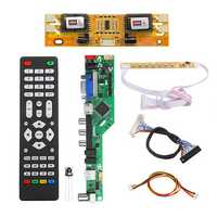 T.RD8503.03 Universal LCD LED TV Controller Driver Board TV/PC/VGA/HDMI/USB+7 Key Button+2ch 8bit 30 LVDS Cable+4 Lamp Inverter