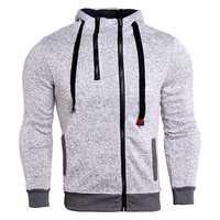 Double Zipper Sweater Sports Shirt Plus Vest Hooded Sweater Running Jacket Sportswear