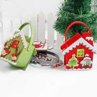 Christmas Day Stocking Decoration Santa Candy Bag Stocking Christmas Gift Bags Santa Claus Christmas Gifts Hand Bag