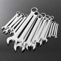 20Pcs Metric 6-32 Combination Wrench Spanner Set 45# Steel Nickel Plating