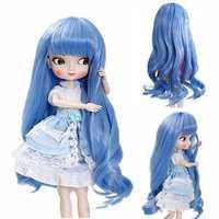 BBGirl BJD Doll Blue Hair For 30cm 35cm Doll DIY Accessories Toy
