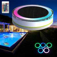 Remote Control Solar Power LED Colorful Swimming Pool Light Garden Waterproof Floating Lamp