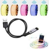 LUSTREON Max 30W Mini USB Power Supply Bluetooth APP Smart RGB LED Strip Light Controller DC5V