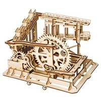 3D Wooden Puzzle Marble Run Assembly Set Cog Magic Crush Tracks DIY Model Building Gift