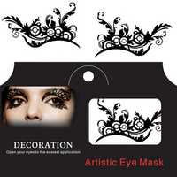 Eye Tattoo Sticker Halloween Squishy Eyes Liner Lace Fretwork Papercut Temporary Face Masquerade